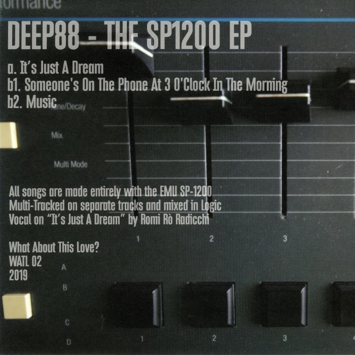 Deep88 ‎– The Sp1200 EP [What About This Love]