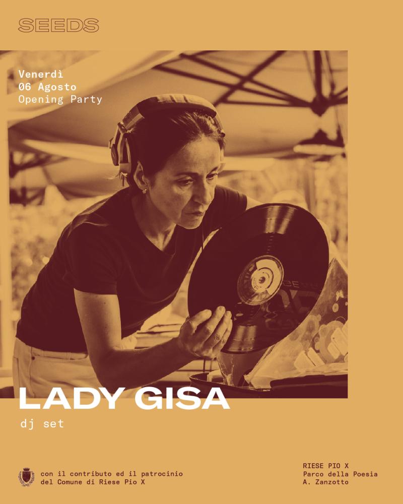 Lady Gisa @ SEEDS Festival Venerdì 6 agosto Parco della Poesia A. Zanzotto, Riese Pio X (TV) djset jazz broken beat nu jazz funk soul electronic