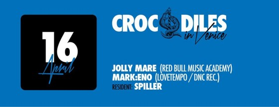Crocodiles in Venice 16 April 2014 w Jolly Mare (Red Bull Music Academy), Mark:Eno (Lovetempo / Dnc Rec), Spiller (nano rec)