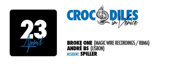 Crocodiles in Venice 23 April 2014 w broke one magic wire recordings red bull music academy andre bs lisbon spiller nano rec