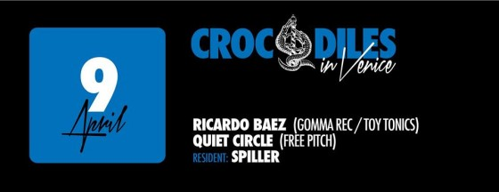 Crocodiles in Venice 9 April 2014 w Ricardo Baez gomma rec toy tonics quiet circle free pitch spiller nano rec