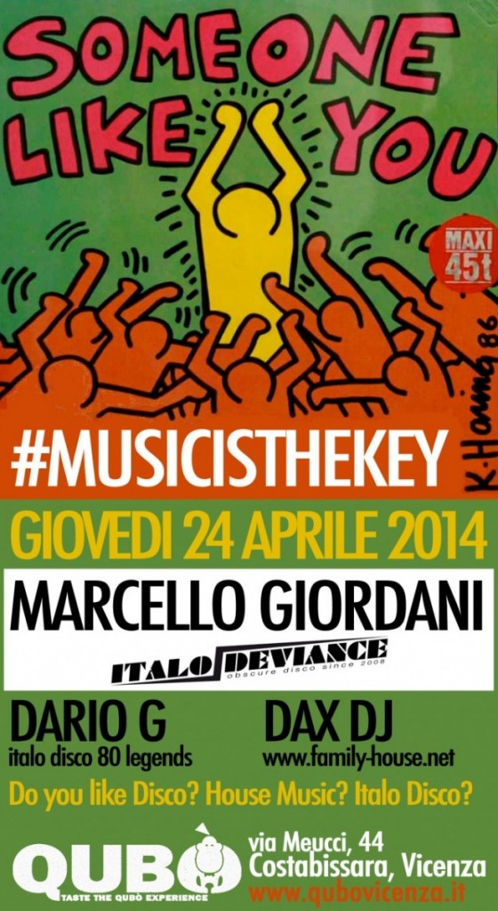 Marcello Giordani Italo Deviance Dax dj Family House Music is the key Dario G italo disco