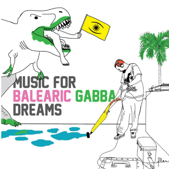 cd Music For Balearic Gabba Dreams - Balearic Gabba Sound System (PeeDoo Enzo Elia). Artwork by Federico Lanaro